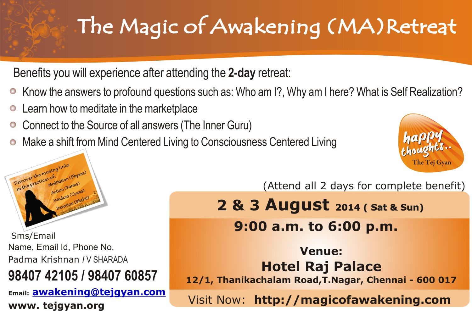 Attend 'The Magic of Awakening Retreat' in Chennai