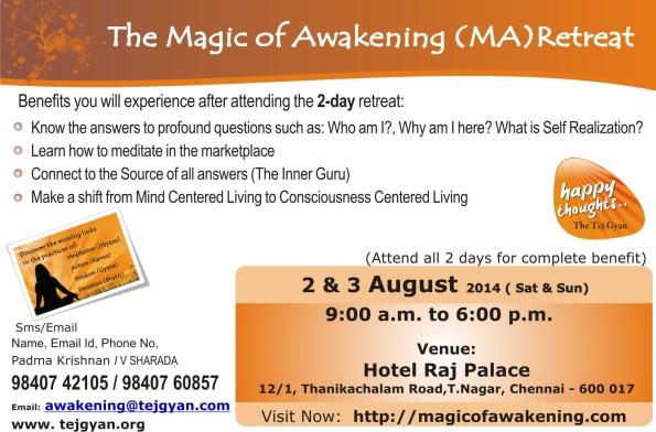 Attend 'The Magic of Awakening Retreat' in Chennai
