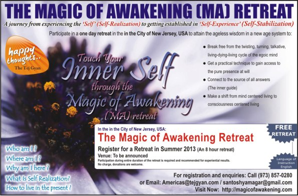 Magic of Awakening Retreat in The City of New Jersey, USA