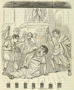 The End of Julius Caesar  from: The Comic History of Rome, 1850