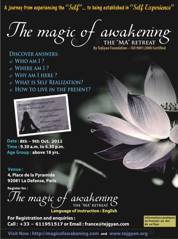 Invitation for Magic of Awakening Retreat in Paris - France