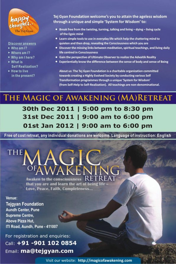 Magic of Awakening Retreat in Pune