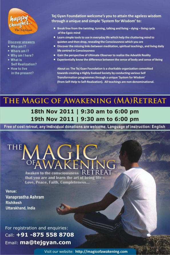 Magic of Awakening Retreat in Rishikesh