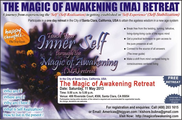 The Magic of Awakening Retreat in the City of Santa Clara, California, USA
