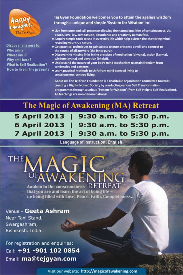 The Magic of Awakening Retreat in Rishikesh