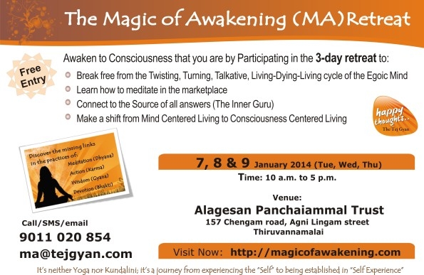 Magic of Awakening Retreat in Thiruvannamalai