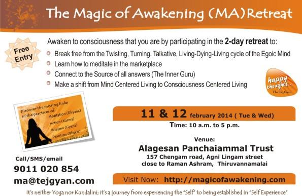 Magic of Awakening Retreat in Thiruvannamalai