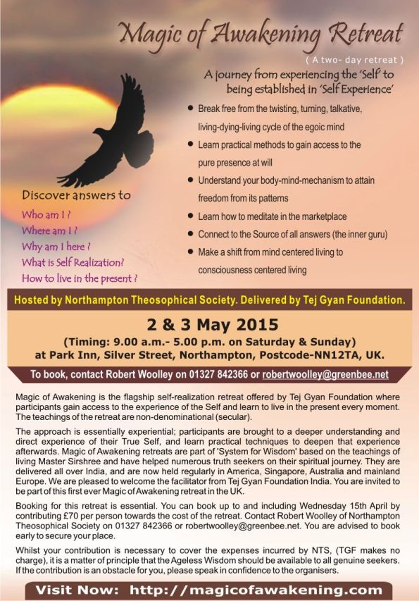 The Magic of Awakening: A Two Day Retreat in Northampton, UK