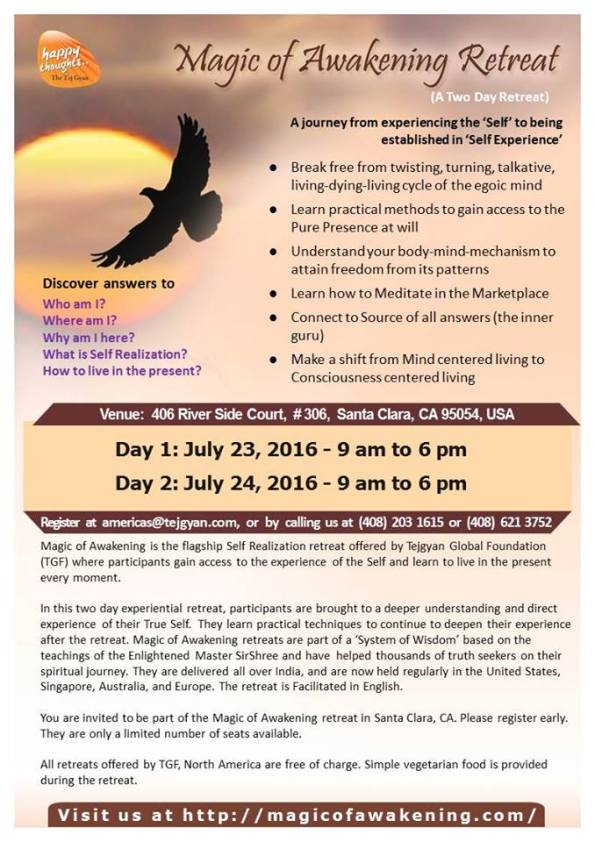Magic of Awakening Retreat in Santa Clara, CA