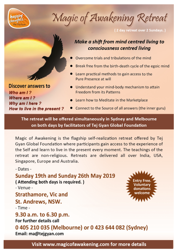 Magic of Awakening Retreat in Australia - May 2019